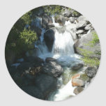 Cascade Falls at Yosemite National Park Classic Round Sticker