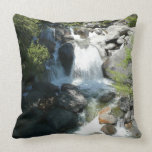 Cascade Falls at Yosemite National Park Throw Pillow