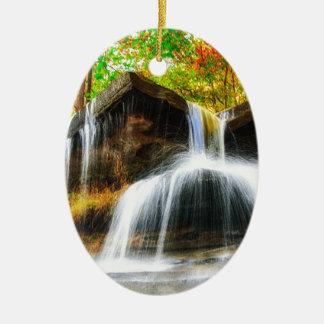 Cascade Falls Ceramic Ornament