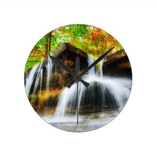 Cascade Falls Round Clock