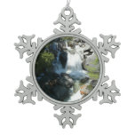 Cascade Falls Snowflake Pewter Christmas Ornament