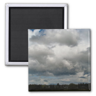 Cascade Foothills And Clouds 2 Inch Square Magnet
