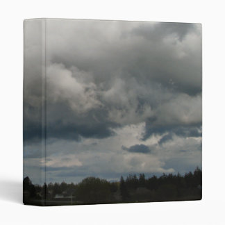 Cascade Foothills And Clouds 3 Ring Binder