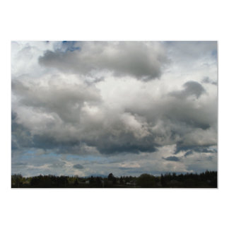 Cascade Foothills And Clouds 5x7 Paper Invitation Card