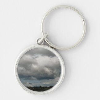 Cascade Foothills And Clouds Keychain