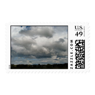 Cascade Foothills And Clouds Postage Stamp