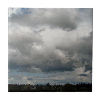 Cascade Foothills And Clouds Ceramic Tile