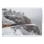 Cascade Gorge Aboard the Polar Express Greeting Card