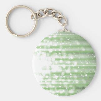 cascade (green) basic round button keychain