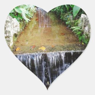 Cascade Heart Sticker