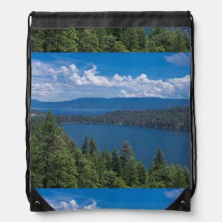 Cascade Lake(Org).tif Drawstring Bag