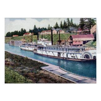 Cascade Locks Oregon Columbia River Steamers Card