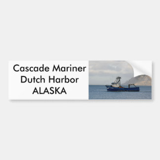 Cascade Mariner, Crab Boat in Dutch Harbor, AK Bumper Sticker
