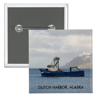 Cascade Mariner, Crab Boat in Dutch Harbor, AK Buttons