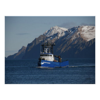 Cascade Mariner, Crab Boat in Dutch Harbor, AK Poster