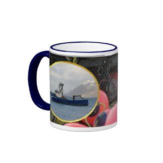 Cascade Mariner, Crab Boat in Dutch Harbor, AK Ringer Mug