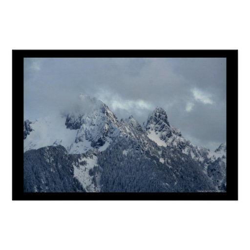 Cascade Mountain Peaks Poster