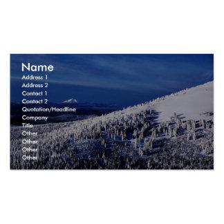 Cascade Mountain Range, Oregon Business Card