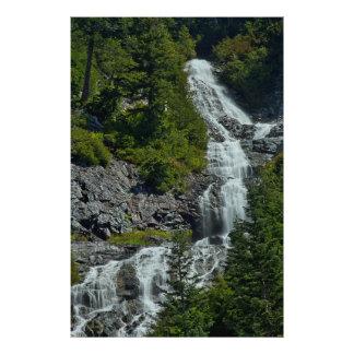 Cascade Mountain Waterfall Photographic Print
