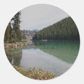 Cascade Mountains, Devils Lake, Oregon Stickers