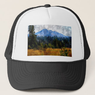 Cascade Mountains Meadow, Oregon Trucker Hat
