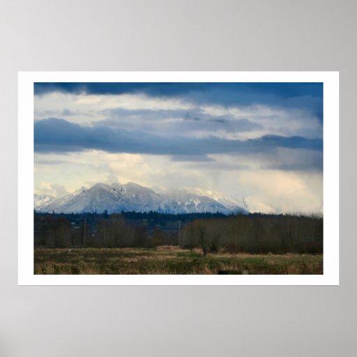 Cascade Mountains Print