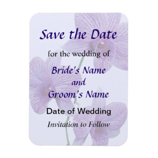 Cascade of Purple Orchids Save the Date Rectangular Photo Magnet