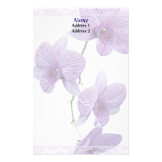 Cascade of Purple Orchids Wedding Products Stationery