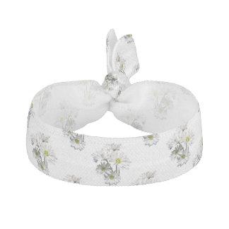Cascade of White Daisies Ribbon Hair Tie