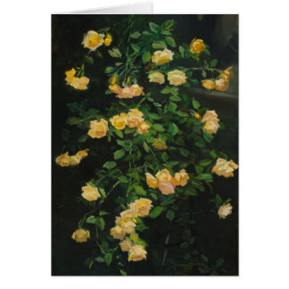Cascade of Yellow Roses Card