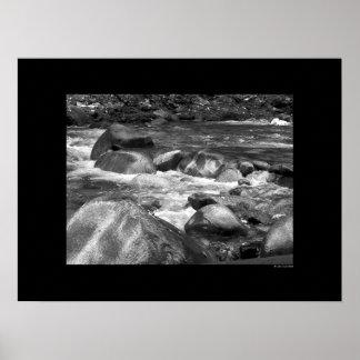 Cascade - River Rocks Poster