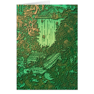 Cascades in Copper Greeting Card