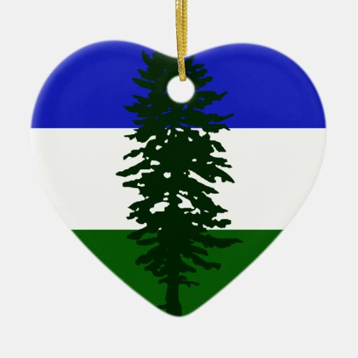 Cascadia, Colombia Political Double-Sided Heart Ceramic Christmas Ornament