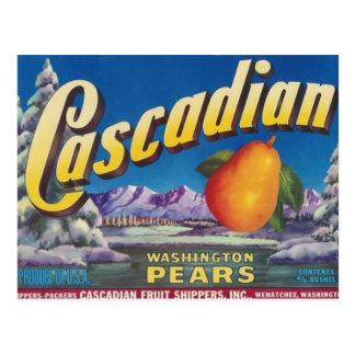 cascadian pears postcard
