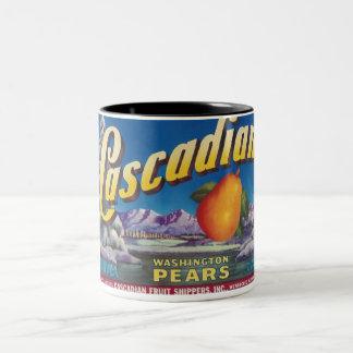 cascadian pears Two-Tone coffee mug