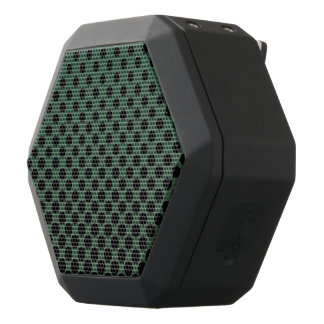 Cascading big to small black circles dark green black bluetooth speaker