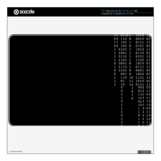Cascading Binary Decal For MacBook Air