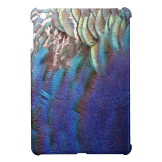 Cascading Blue Peacock Feathers iPad Mini Case