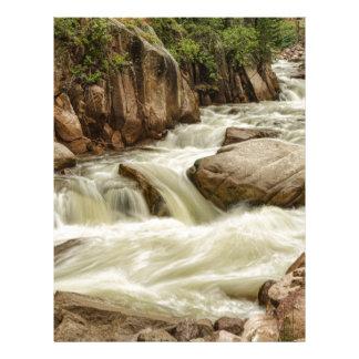 Cascading Colorado Rocky Mountain Stream Letterhead