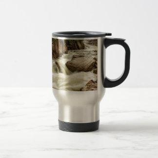 Cascading Colorado Rocky Mountain Stream Travel Mug