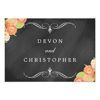 Cascading Floral Chalkboard Wedding Response Cards