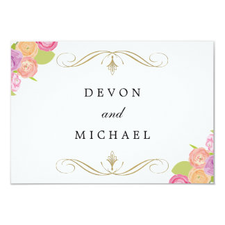 Cascading Floral Wedding Response Cards