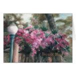 Cascading Flowers Blank Card