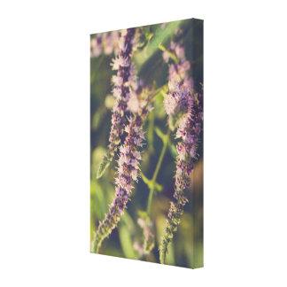 Cascading flowers canvas print
