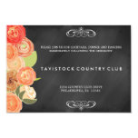 Cascading Flowers ChalkboardWedding Reception Card Personalized Invites