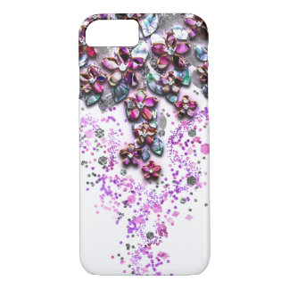 Cascading Flowers - Mother of Pearl Confetti iPhone 8/7 Case