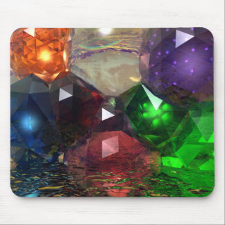 Cascading Gems Mouse Pads