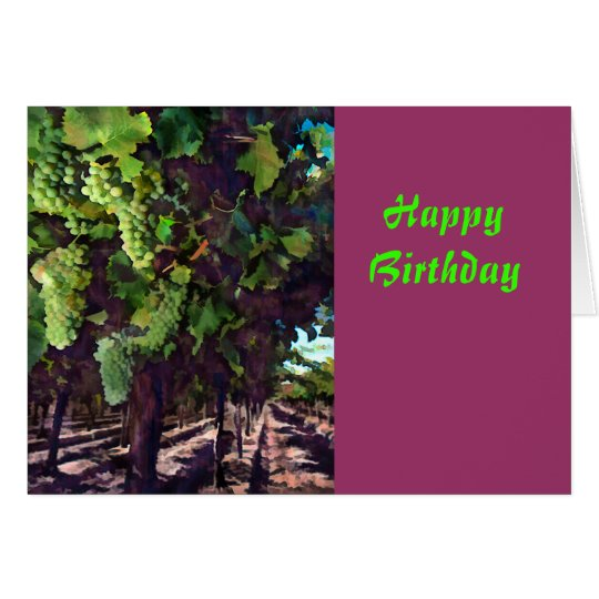 Cascading Grapes Card