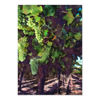 "Cascading Grapes 5"" X 7"" Invitation Card"