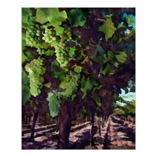 Cascading Grapes Poster